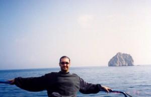 على متن قارب في البحر الأوسط ( يالطا - اوكرانيا)
