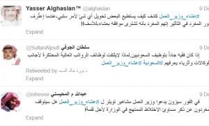 تغريدات لقاء وزير العمل